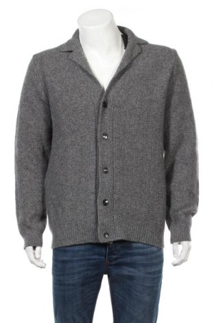 Ανδρική ζακέτα Massimo Dutti, Μέγεθος XL, Χρώμα Γκρί, 65% μαλλί, 27% μαλλί από αλπακά, 8% βαμβάκι, Τιμή 45,88€