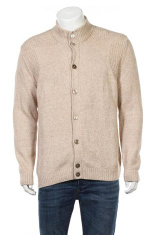 Ανδρική ζακέτα Massimo Dutti, Μέγεθος XL, Χρώμα  Μπέζ, 88% βαμβάκι, 12% μαλλί, Τιμή 42,27€