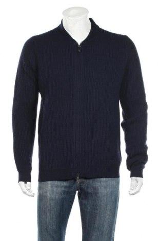 Ανδρική ζακέτα Massimo Dutti, Μέγεθος L, Χρώμα Μπλέ, 96% μαλλί, 4% κασμίρι, Τιμή 37,11€