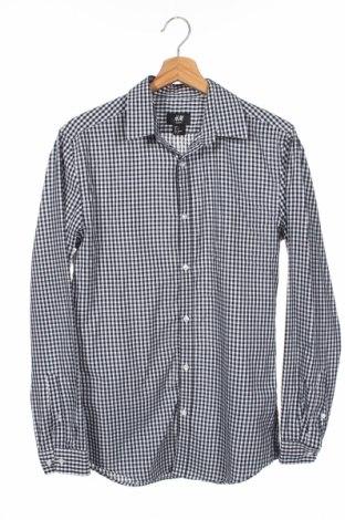 Męska koszula H&M, Rozmiar S, Kolor Czarny, 65% poliester, 35% bawełna, Cena 54,00zł
