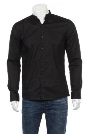 Ανδρικό πουκάμισο Hugo Boss, Μέγεθος M, Χρώμα Μαύρο, 95% βαμβάκι, 5% ελαστάνη, Τιμή 57,37€