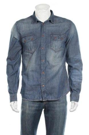 Męska koszula Nudie Jeans Co, Rozmiar L, Kolor Niebieski, Bawełna, Cena 84,00zł
