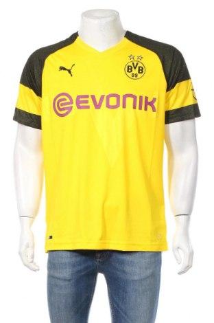 Męski T-shirt PUMA, Rozmiar L, Kolor Żółty, 100% poliester, Cena 97,50zł