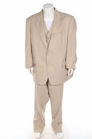 Ανδρικό κοστούμι Man's World, Μέγεθος XXL, Χρώμα  Μπέζ, Πολυεστέρας, Τιμή 30,39€