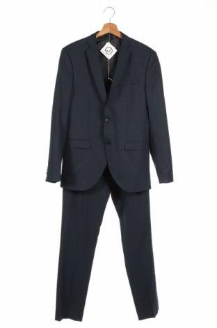 Ανδρικό κοστούμι Premium By Jack & Jones, Μέγεθος M, Χρώμα Μπλέ, 56% πολυεστέρας, 41% βισκόζη, 3% ελαστάνη, Τιμή 54,88€