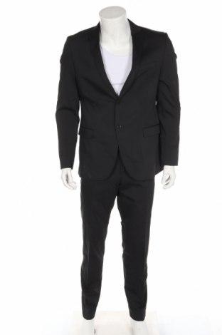 Ανδρικό κοστούμι S.Oliver, Μέγεθος L, Χρώμα Μαύρο, 79% πολυεστέρας, 19% μαλλί, 2% ελαστάνη, Τιμή 83,41€