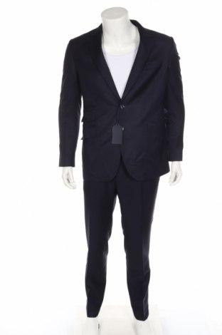 Ανδρικό κοστούμι Scalpers, Μέγεθος L, Χρώμα Μπλέ, 100% μαλλί, Τιμή 116,30€