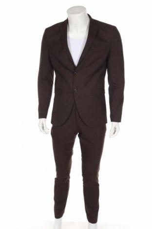 Ανδρικό κοστούμι Selected Homme, Μέγεθος M, Χρώμα Καφέ, 65% πολυεστέρας, 33% βισκόζη, 2% ελαστάνη, Τιμή 71,46€