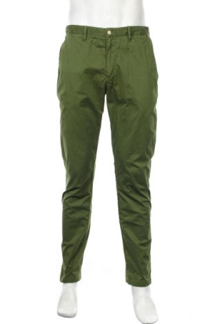 Мъжки панталон J.Lindeberg, Размер M, Цвят Зелен, 96% памук, 4% еластан, Цена 27,14лв.