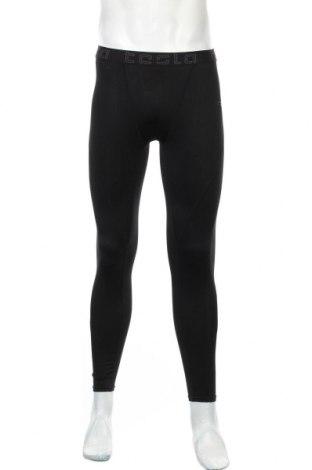 Męskie legginsy sportowe, Rozmiar M, Kolor Czarny, 87% poliester, 13% poliuretan, Cena 45,60zł
