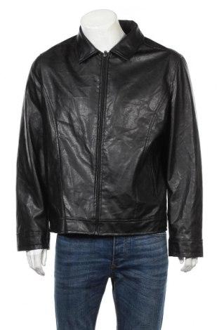 Мъжко кожено яке Ac, Размер L, Цвят Черен, Еко кожа, Цена 23,10лв.