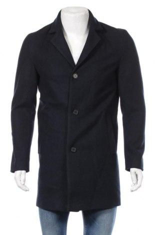 Męski płaszcz Produkt by Jack & Jones, Rozmiar M, Kolor Niebieski, Poliester, Cena 240,00zł