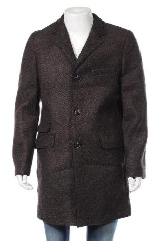 Męski płaszcz S.Oliver, Rozmiar L, Kolor Brązowy, 60% poliester, 25%akryl, 12% wełna, 3% elastyna, Cena 370,00zł