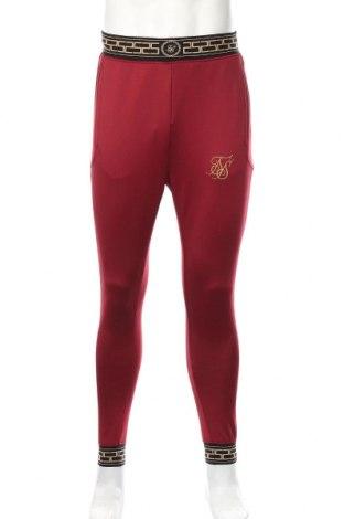 Męskie spodnie sportowe SikSilk, Rozmiar M, Kolor Czerwony, 95% poliester, 5% elastyna, Cena 142,50zł