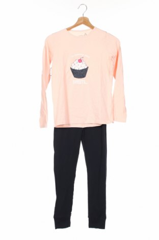 Пижама Name It, Размер 9-10y/ 140-146 см, Цвят Розов, 95% памук, 5% еластан, Цена 31,28лв.