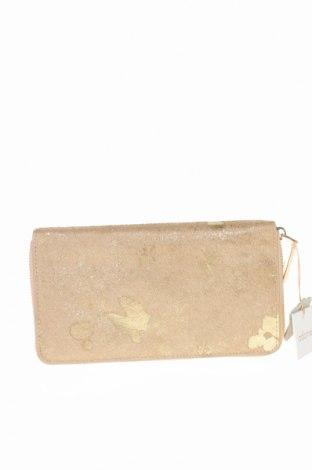 Portmonetka Adorne, Kolor Beżowy, Skóra naturalna, włosie naturalne, Cena 102,90zł
