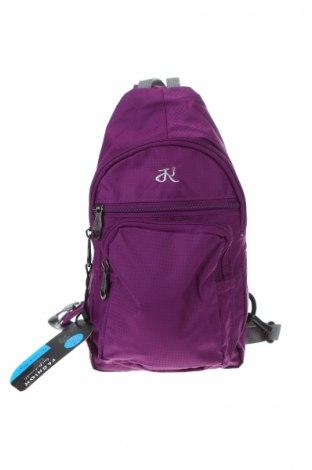 Plecak, Kolor Fioletowy, Materiał tekstylny, Cena 86,40zł