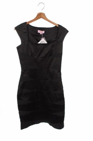 Рокля Angel Paris, Размер S, Цвят Черен, 61% памук, 36% полиестер, 3% еластан, Цена 16,80лв.