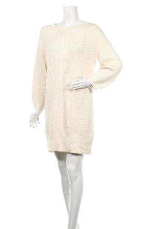 Рокля Massimo Dutti, Размер XS, Цвят Екрю, 50% памук, 50% модал, Цена 55,68лв.