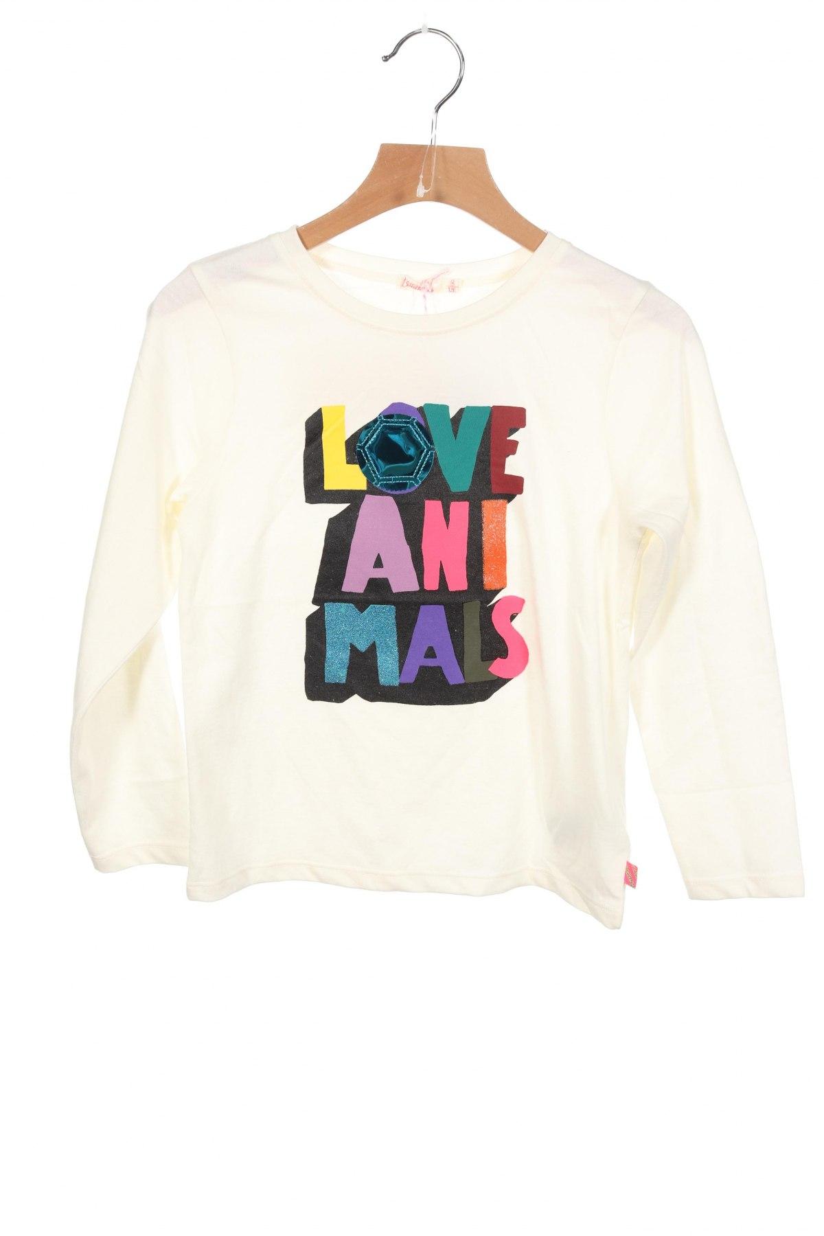 Детска блуза Billieblush, Размер 6-7y/ 122-128 см, Цвят Екрю, 65% полиестер, 35% памук, Цена 19,00лв.