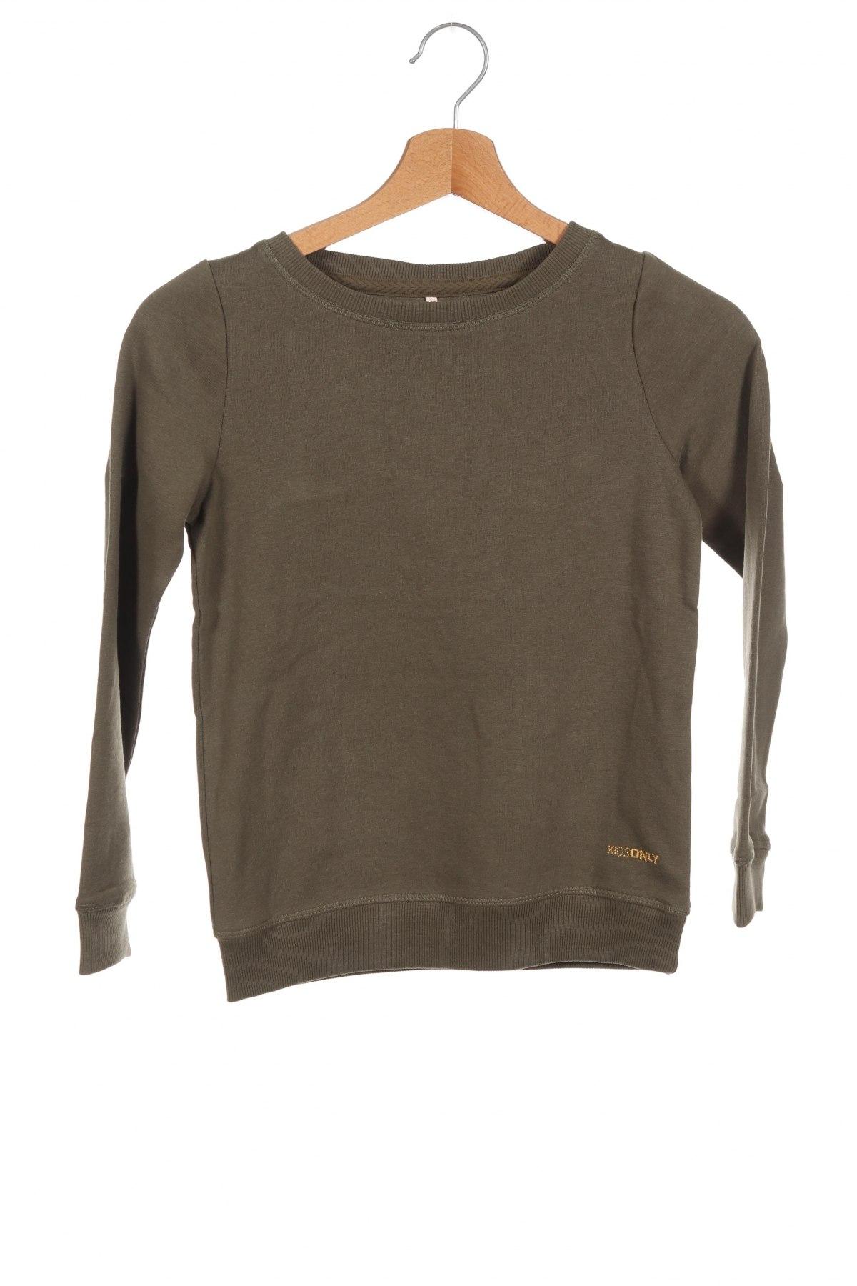 Детска блуза Only, Размер 6-7y/ 122-128 см, Цвят Зелен, 60% памук, 40% полиестер, Цена 21,76лв.