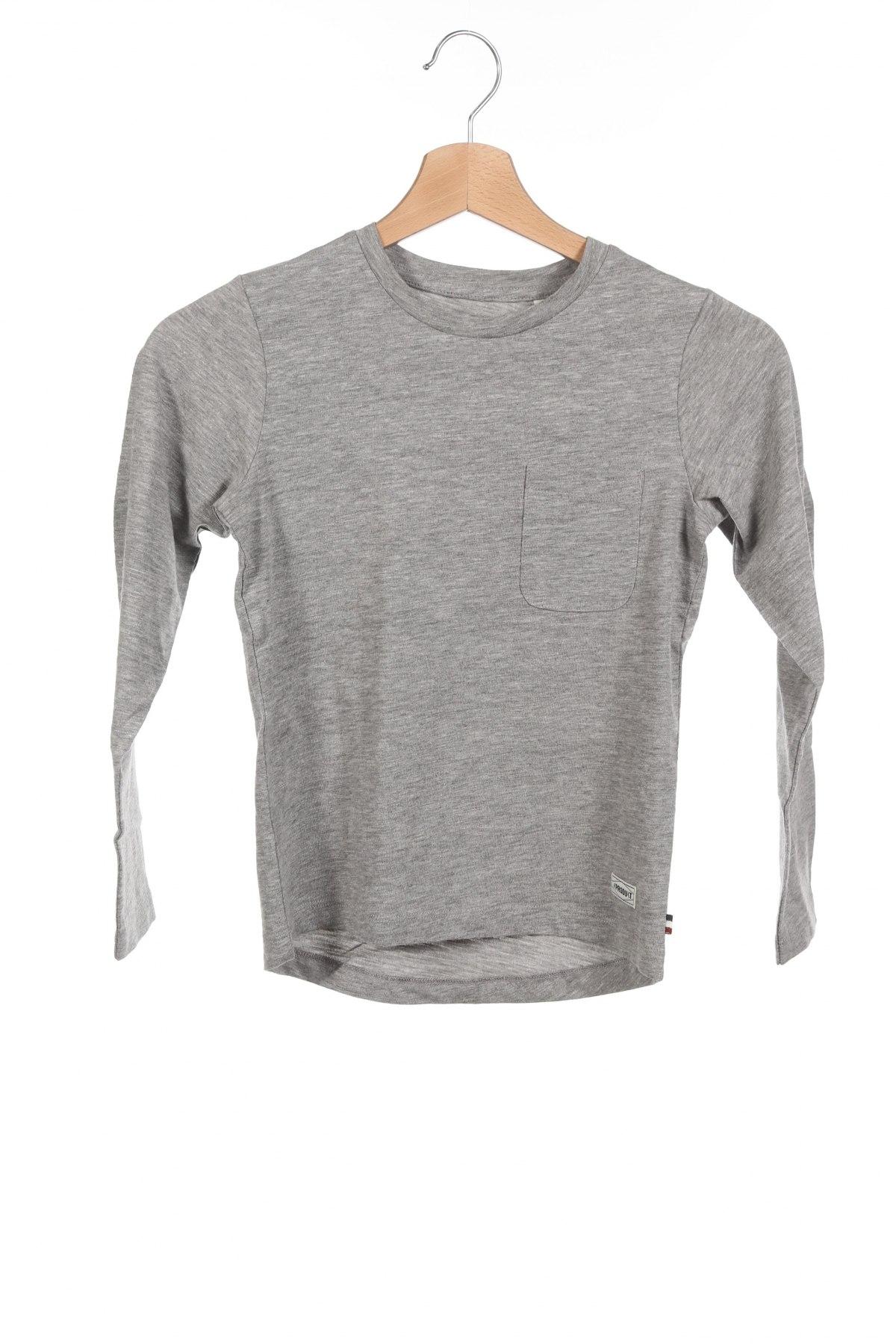 Детска блуза Produkt by Jack & Jones, Размер 6-7y/ 122-128 см, Цвят Сив, Цена 27,30лв.