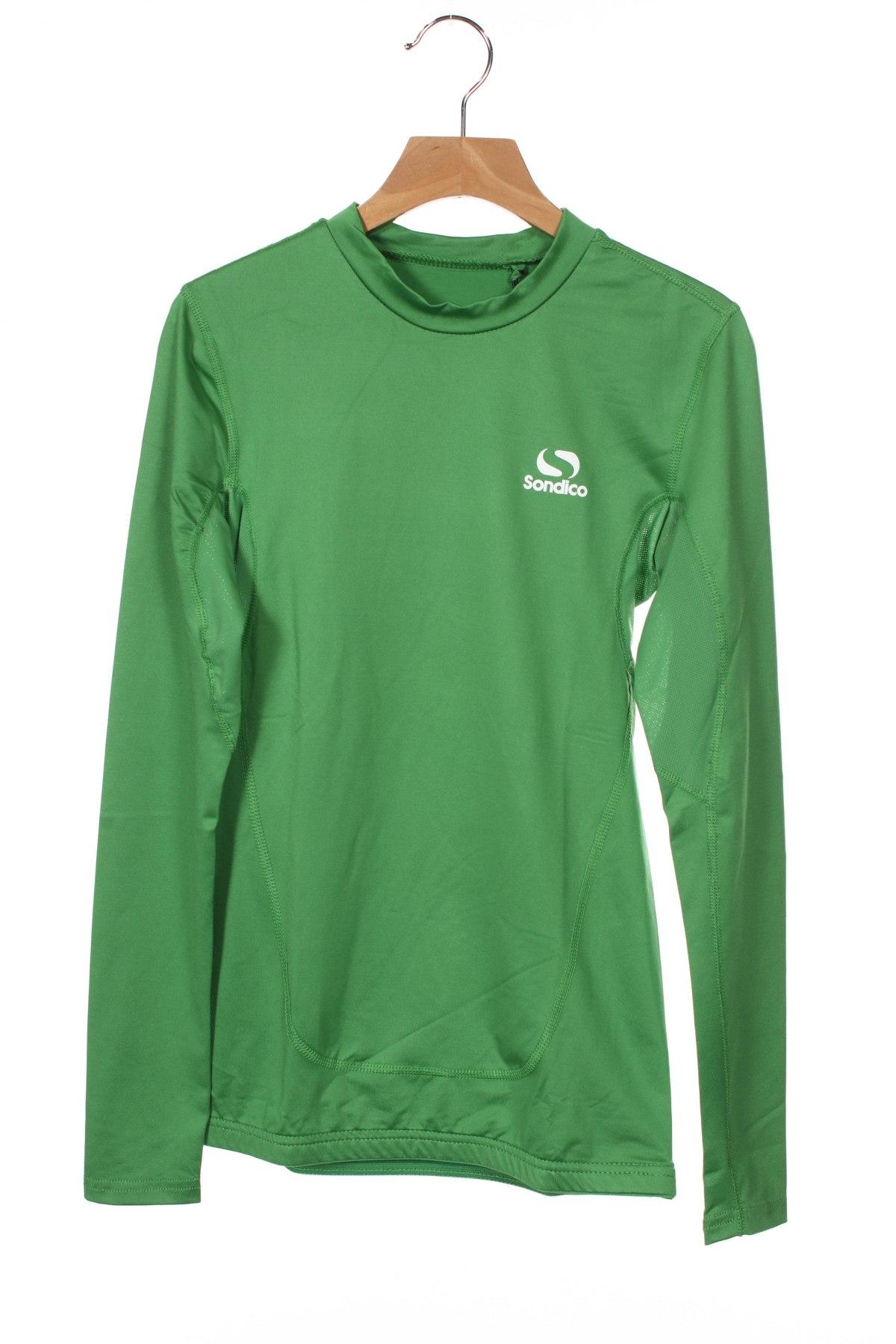 Детска спортна блуза Sondico, Размер 7-8y/ 128-134 см, Цвят Зелен, 92% полиамид, 8% еластан, Цена 27,00лв.
