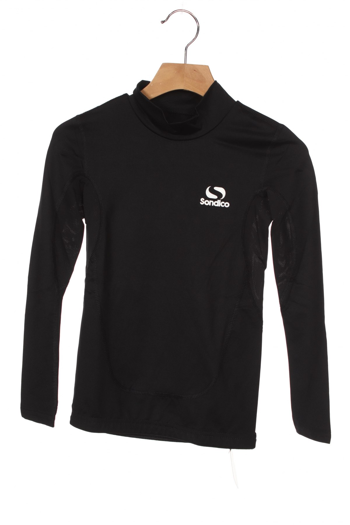 Детска спортна блуза Sondico, Размер 7-8y/ 128-134 см, Цвят Черен, 92% полиамид, 8% еластан, Цена 16,20лв.
