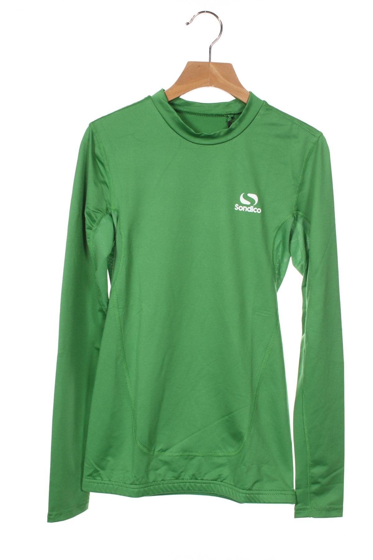 Детска спортна блуза Sondico, Размер 7-8y/ 128-134 см, Цвят Зелен, 92% полиамид, 8% еластан, Цена 22,68лв.