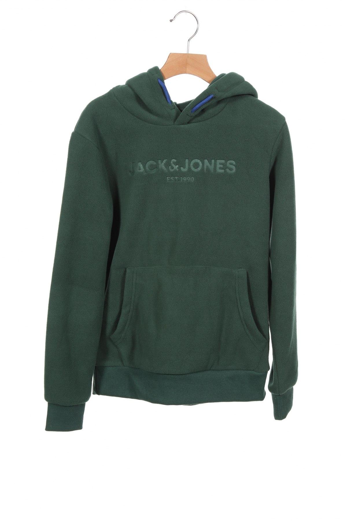 Детски поларен суичър Jack & Jones, Размер 10-11y/ 146-152 см, Цвят Зелен, 100% полиестер, Цена 31,85лв.
