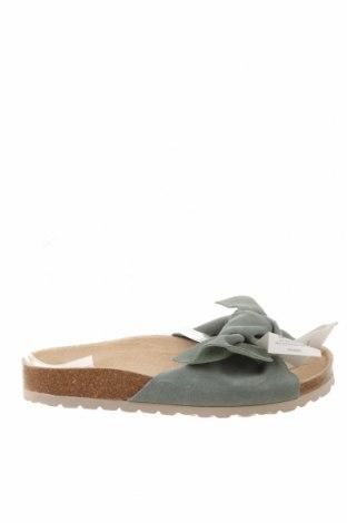 Papuci Oysho, Mărime 38, Culoare Albastru, Velur natural, Preț 175,66 Lei