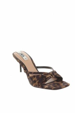 Γυναικείες παντόφλες Zara, Μέγεθος 38, Χρώμα Πολύχρωμο, Κλωστοϋφαντουργικά προϊόντα, Τιμή 13,40€