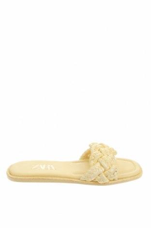 Pantofle Zara, Velikost 37, Barva Žlutá, Textile , Cena  610,00Kč