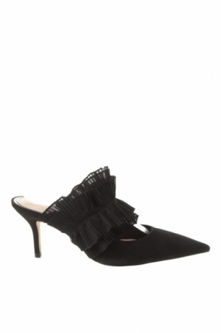 Pantofle Zara, Velikost 39, Barva Černá, Přírodní velur , textile , Cena  968,00Kč