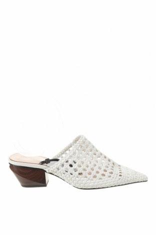 Pantofle Zara, Velikost 37, Barva Bílá, Eko kůže, Cena  533,00Kč