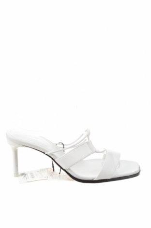 Γυναικείες παντόφλες Zara, Μέγεθος 39, Χρώμα Λευκό, Γνήσιο δέρμα, Τιμή 24,43€