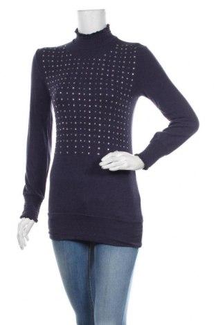 Дамска блуза, Размер M, Цвят Син, 90% вискоза, 10% еластан, Цена 19,95лв.
