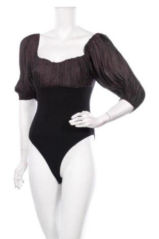 Дамска блуза - боди Zara, Размер M, Цвят Черен, Полиестер, вискоза, еластан, Цена 22,00лв.