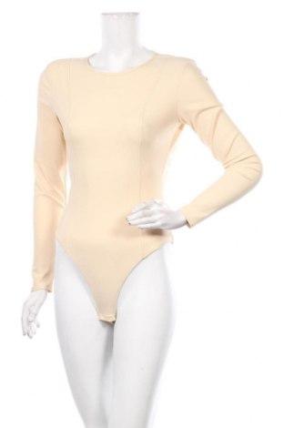 Дамска блуза - боди Zara, Размер S, Цвят Бежов, 72% полиамид, 23% еластан, Цена 20,16лв.