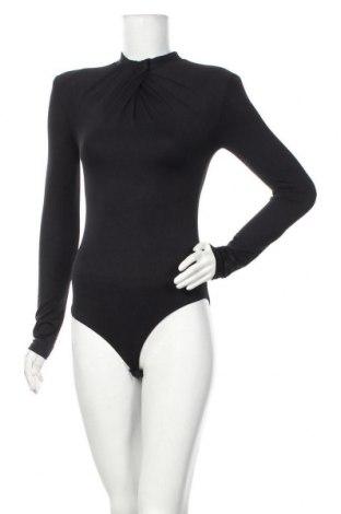 Дамска блуза - боди Zara, Размер M, Цвят Черен, 92% полиамид, 8% еластан, Цена 36,75лв.