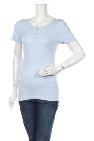 Дамска блуза Culture, Размер M, Цвят Син, 47% памук, 47% модал, 6% еластан, Цена 42,00лв.