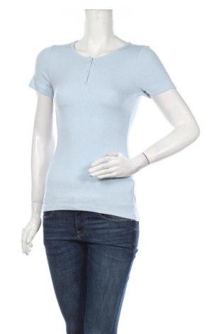 Дамска блуза Culture, Размер M, Цвят Син, 47% памук, 47% модал, 6% еластан, Цена 44,25лв.