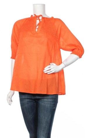 Дамска блуза Culture, Размер M, Цвят Оранжев, Памук, Цена 38,35лв.