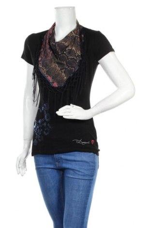 Дамска блуза Desigual, Размер S, Цвят Черен, Цена 18,75лв.