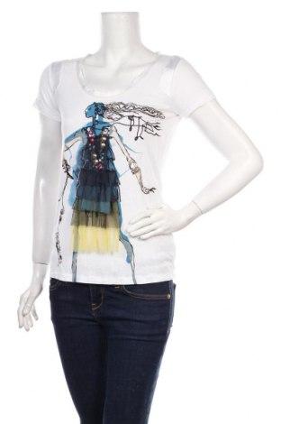Γυναικεία μπλούζα Desigual by Christian Lacroix, Μέγεθος M, Χρώμα Λευκό, 100% βισκόζη, Τιμή 20,42€