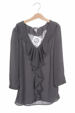 Дамска блуза H&M, Размер XXS, Цвят Син, Полиестер, Цена 23,00лв.