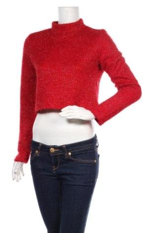 Дамска блуза H&M Divided, Размер M, Цвят Червен, Полиестер, Цена 19,50лв.