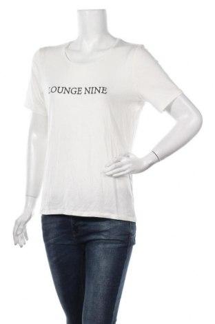 Γυναικείο t-shirt Lounge Nine, Μέγεθος M, Χρώμα Εκρού, 96% lyocell, 4% ελαστάνη, Τιμή 21,34€