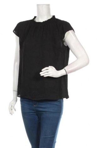 Дамска блуза S.Oliver, Размер L, Цвят Черен, Полиестер, Цена 12,63лв.