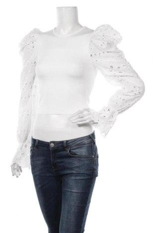 Bluză de femei Zara, Mărime S, Culoare Alb, Bumbac, Preț 106,05 Lei